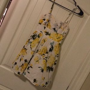 White and yellow flowered dress!